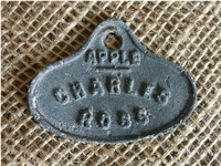a Charles Ross apple tag found double digging the asparagus bed