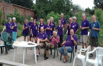 Some of the volunteer team celebrating at the end of the open day